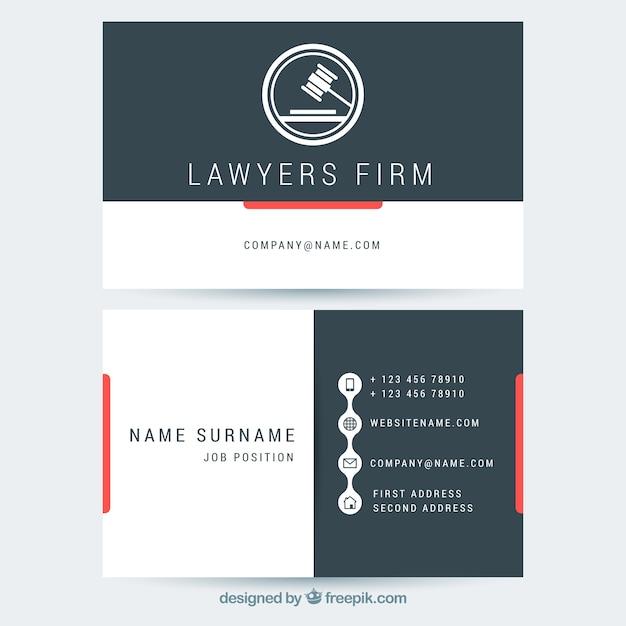 弁護士のカードテンプレート 無料ベクター