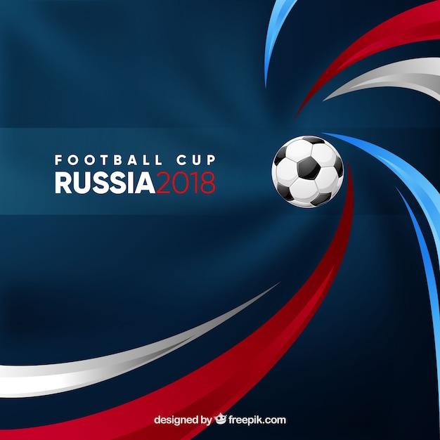 ボールとサッカーカップの背景 無料ベクター