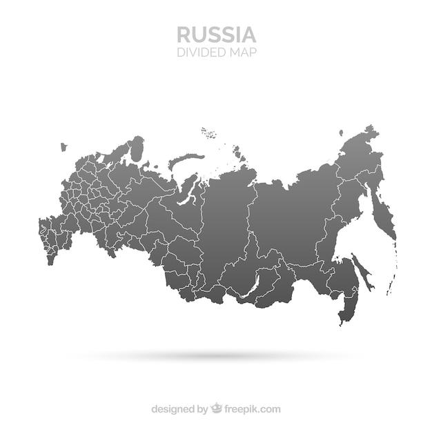 Карта россии Бесплатные векторы