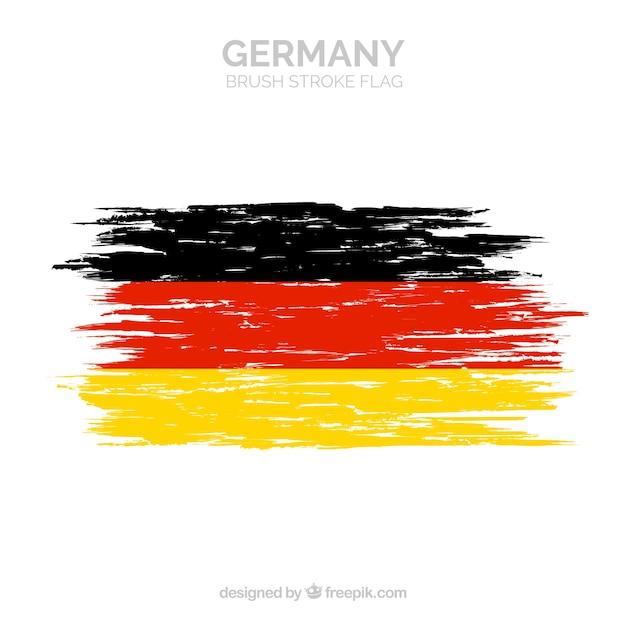ドイツのブラシストロークフラグ 無料ベクター