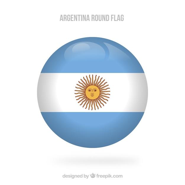 ラウンドアルゼンチンの旗の背景 無料ベクター