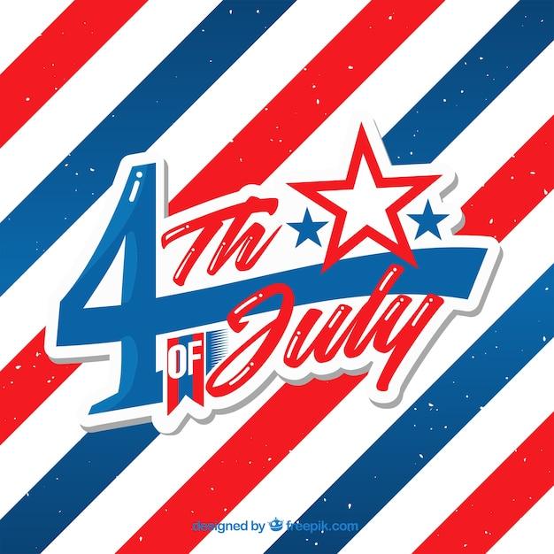米国独立記念日の祝賀の背景 無料ベクター