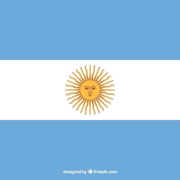 アルゼンチンの旗の背景 無料ベクター