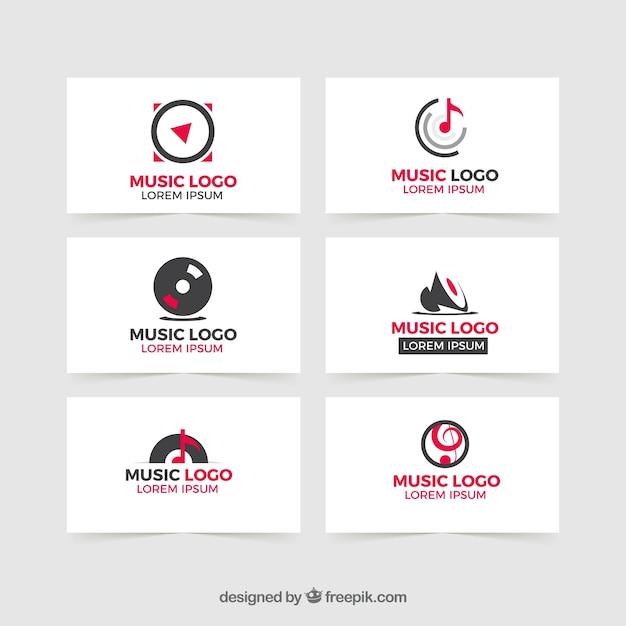現代音楽のロゴ 無料ベクター