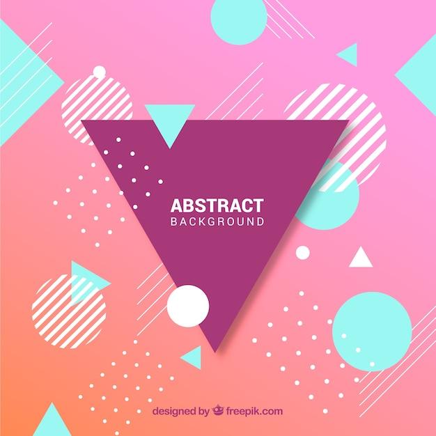 Абстрактный фон с геометрическим стилем Бесплатные векторы