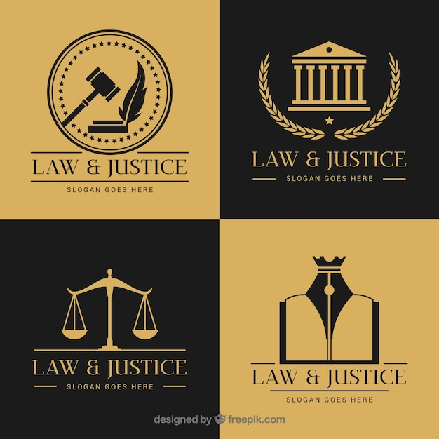 法律のロゴタイプセット 無料ベクター