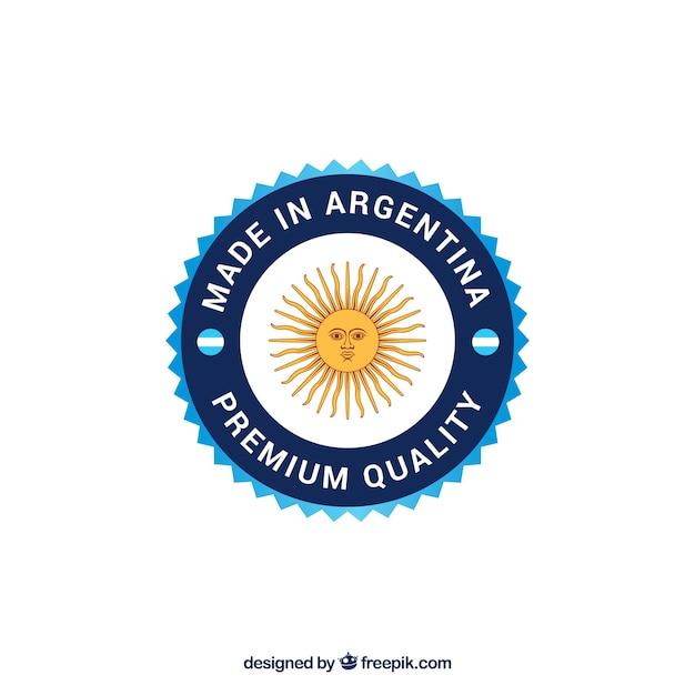 アルゼンチン製ラベル 無料ベクター