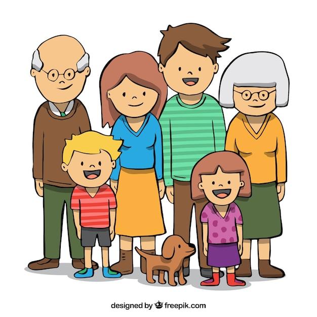Большая семья картинки рисованные, добрыми