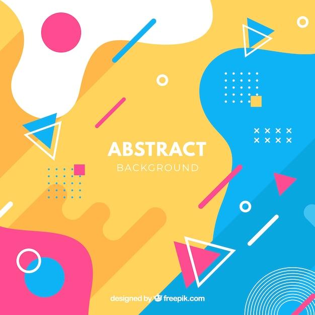 幾何学的なデザインの抽象的な背景 無料ベクター