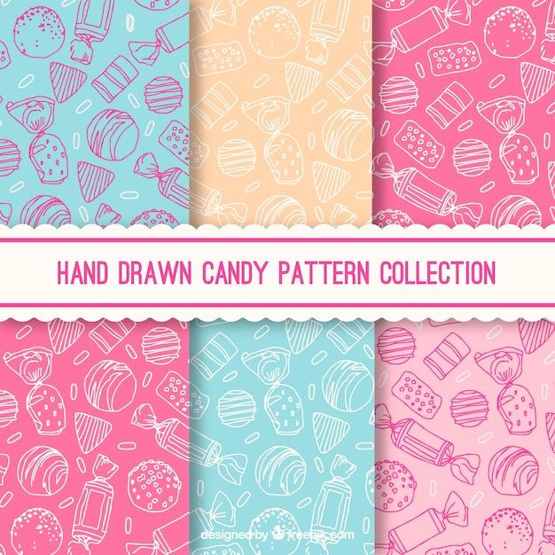 Коллекция конфет с разными цветами Бесплатные векторы