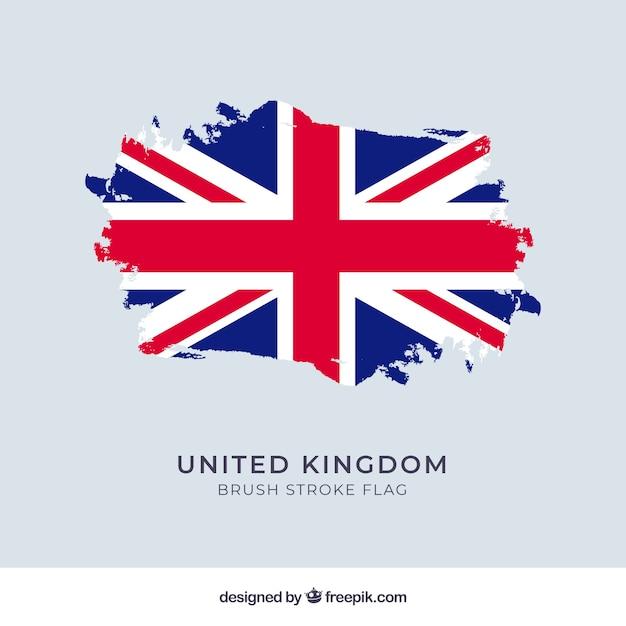 Фон флага соединенного королевства Бесплатные векторы