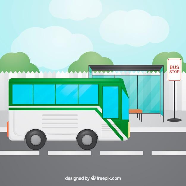 Рисунок автобусной остановки