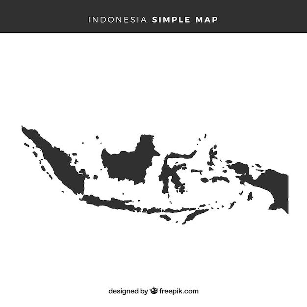 Карта индонезии Бесплатные векторы