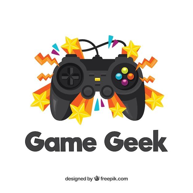 Игровой логотип со звездами Бесплатные векторы