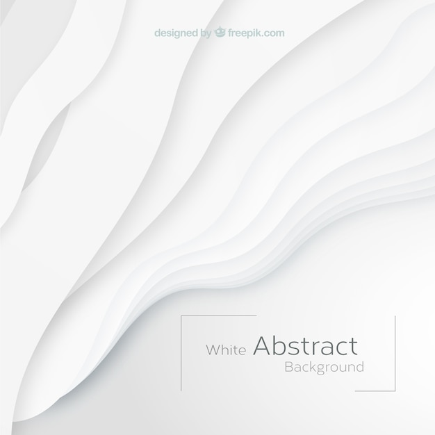 Белый фон с абстрактными фигурами Бесплатные векторы