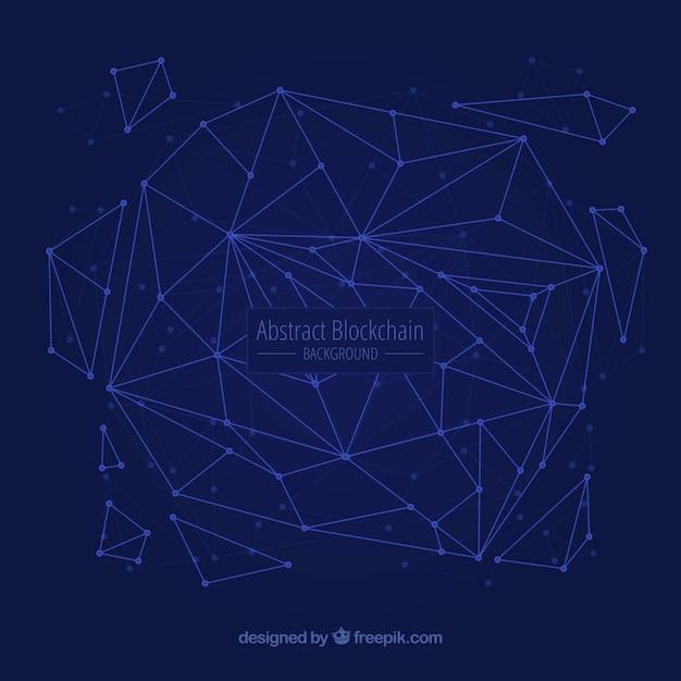Абстрактный фон блочной цепи Бесплатные векторы
