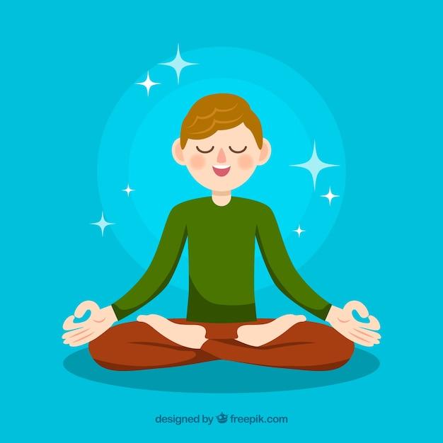 瞑想の概念の背景 無料ベクター