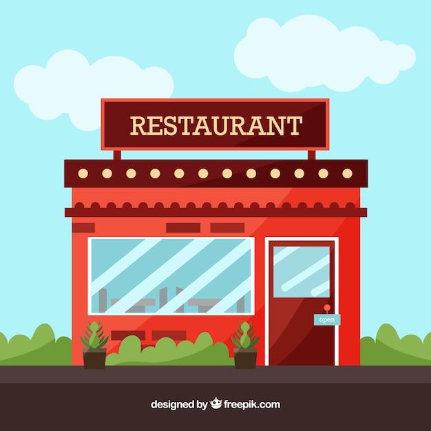 エレガントなレストラン構成 無料ベクター