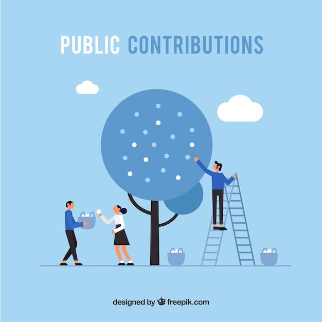 Концепция общественных вкладов Бесплатные векторы