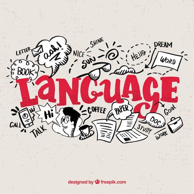 Концепция языков с плоским дизайном Бесплатные векторы