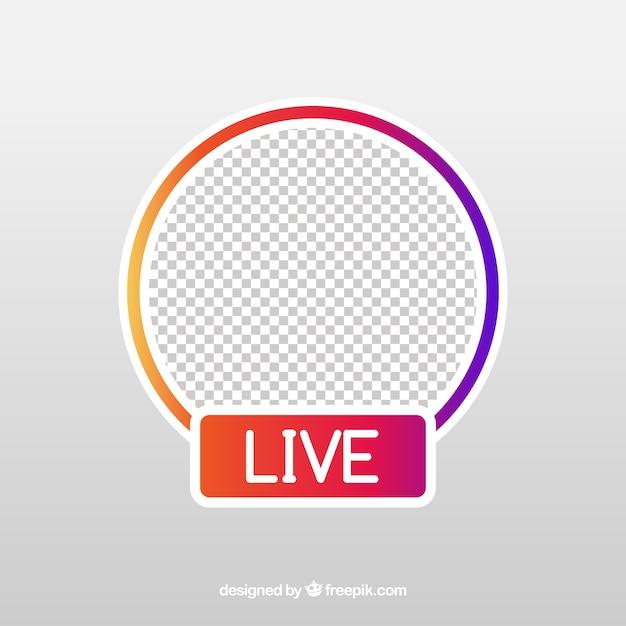 Современная живая потоковая иконка с плоским дизайном Бесплатные векторы