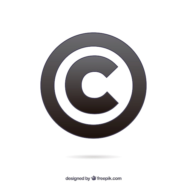 現代の著作権シンボルテンプレート 無料ベクター