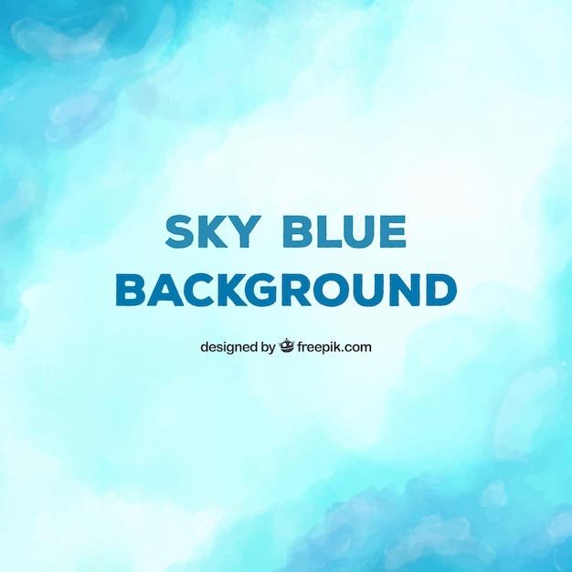 素敵な水彩の青い背景 無料ベクター