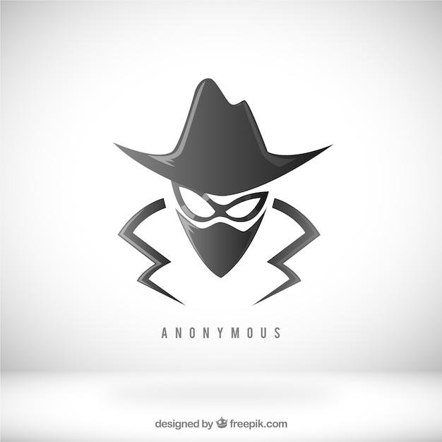 フラットデザインの最新の匿名コンセプト 無料ベクター