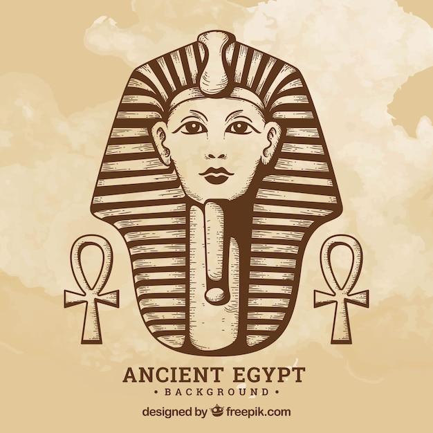 古代エジプトの背景 無料ベクター