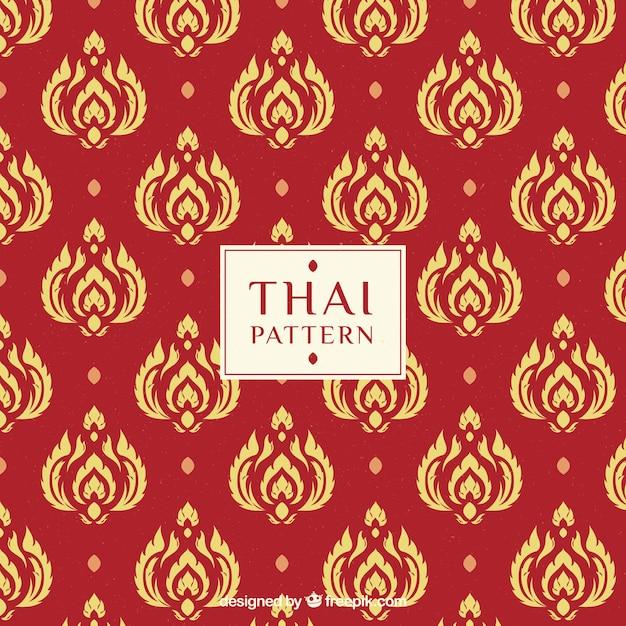Современный красный тайский узор Бесплатные векторы