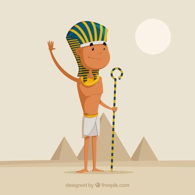 フラットデザインの古代エジプト・コンポジション 無料ベクター