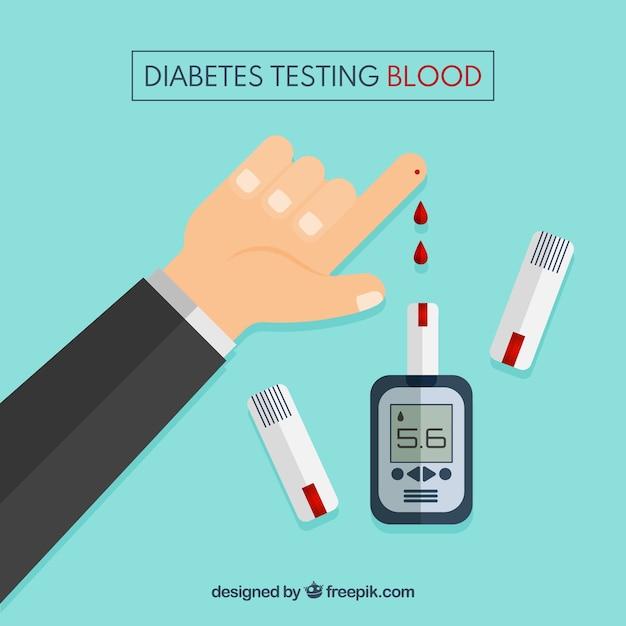 糖尿病のテスト血液の背景 無料ベクター