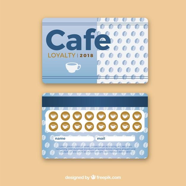 Шаблон карточки лояльности кафе с элегантным стилем Бесплатные векторы