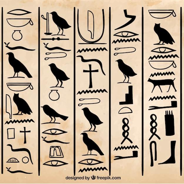 Египетские иероглифы картинках