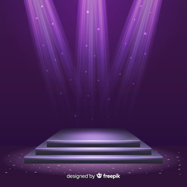 Реалистичный подиум с элегантной молнией Бесплатные векторы