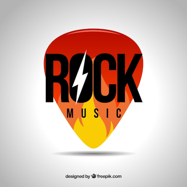 ロックミュージックのロゴ 無料ベクター