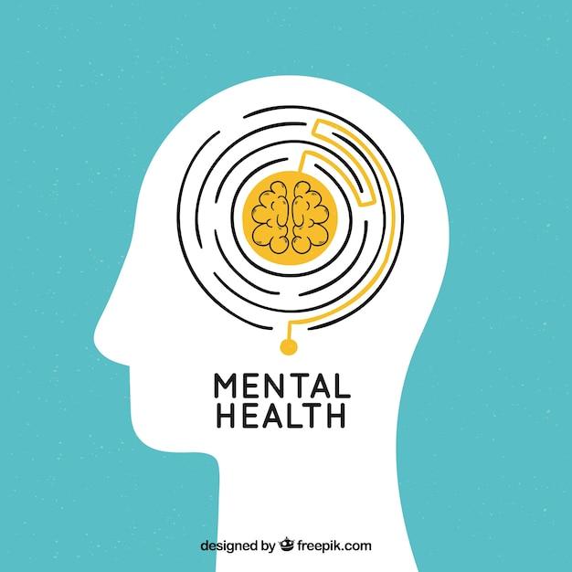 Концепция психического здоровья, направленная руками Бесплатные векторы