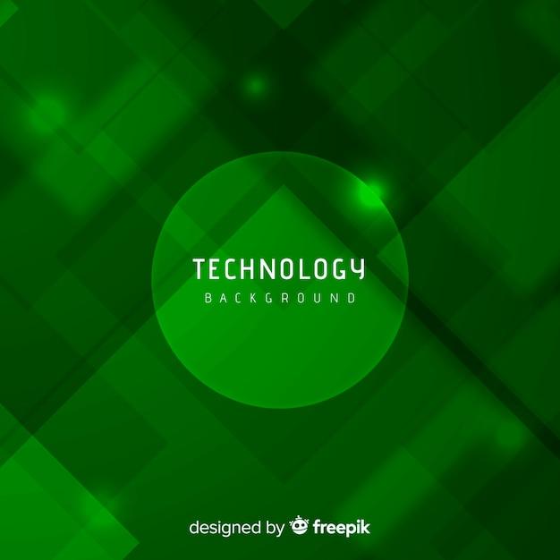 モダンなスタイルの緑の抽象的な背景 無料ベクター
