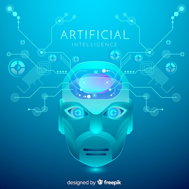 抽象的な人工知能の背景 無料ベクター