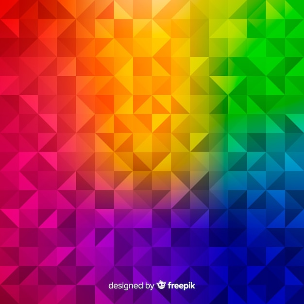 幾何学的な形をした多色のモダンな抽象的な背景 無料ベクター