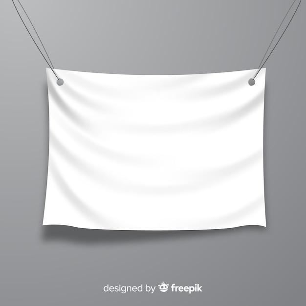 白いファブリックのバナー 無料ベクター