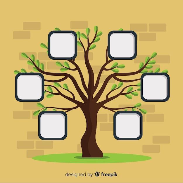 木の写真フレーム 無料ベクター