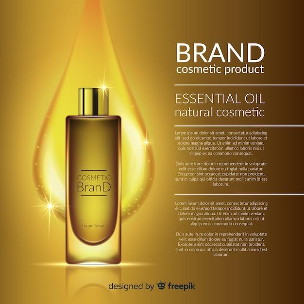 現実的なデザインの化粧品広告 無料ベクター