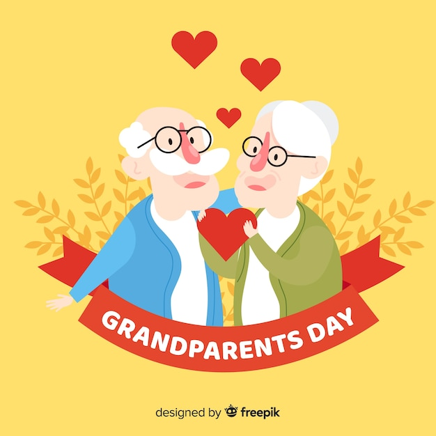 Фон дневного бабушки и дедушки Бесплатные векторы