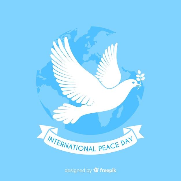 平和の日の背景 無料ベクター