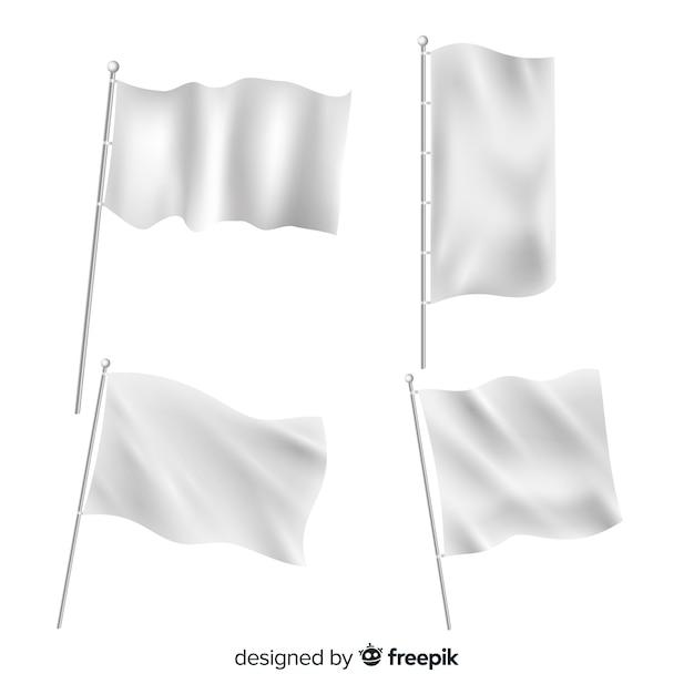 Упаковка текстильных флагов Бесплатные векторы