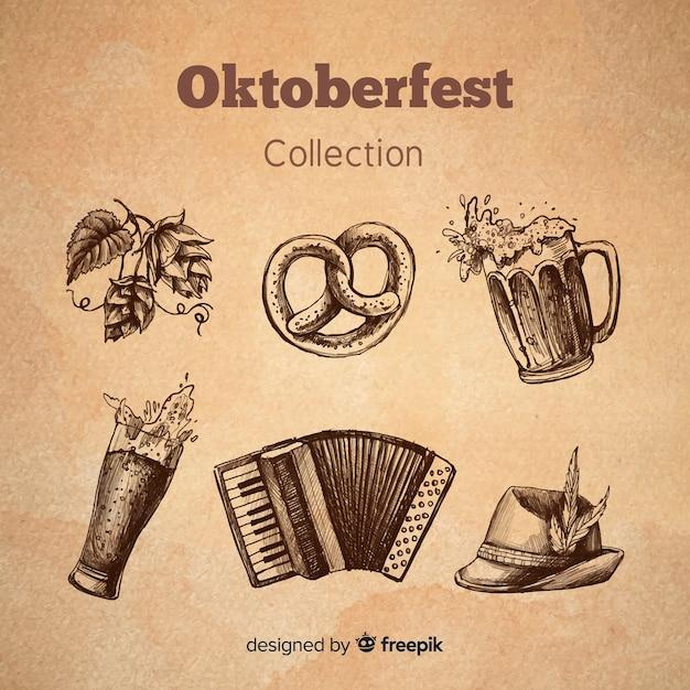 オクトーバーフェストの要素コレクション 無料ベクター