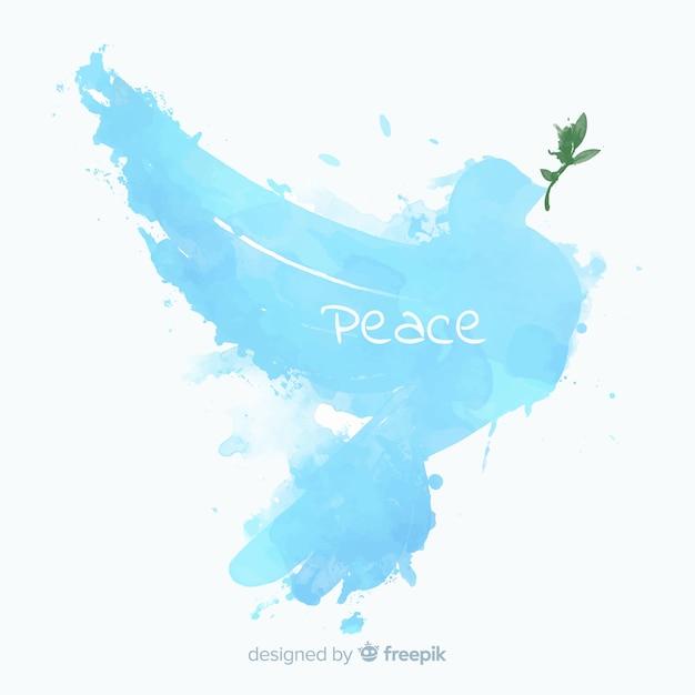 抽象的な鳩と平和の日の背景 無料ベクター