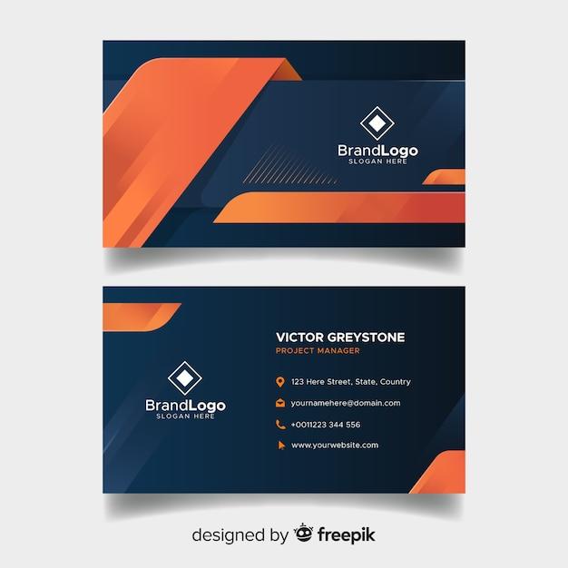 Элегантный шаблон визитной карточки с геометрическим дизайном Бесплатные векторы