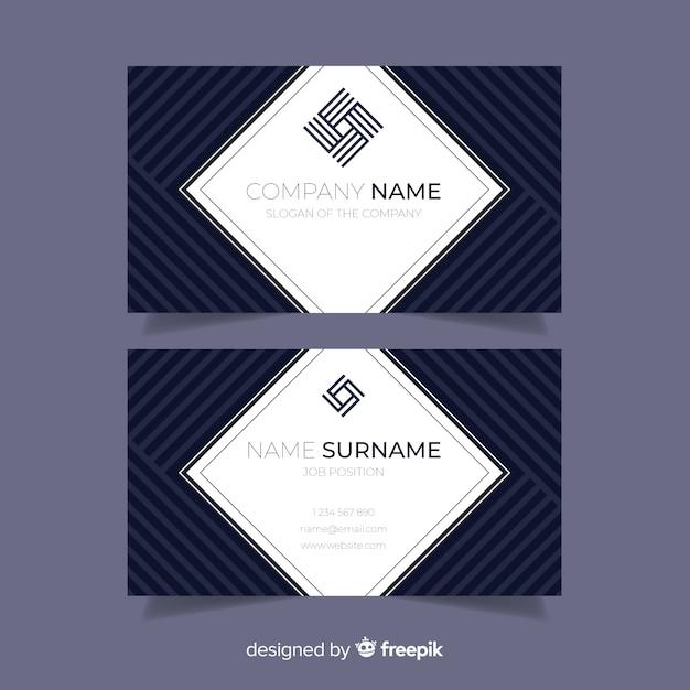 Абстрактный шаблон визитной карточки в плоском дизайне Бесплатные векторы